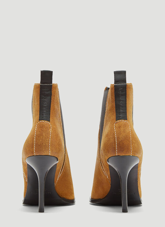 Acne Studios Jemma Waxed Suede Stiletto Boots
