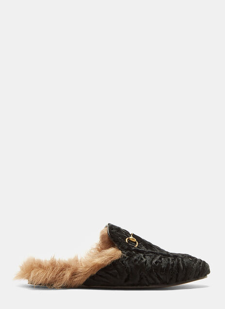 Gucci Princetown Lamb Fur Slippers