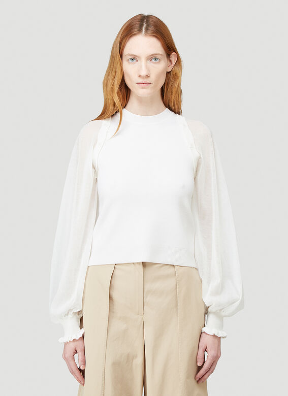 JW Anderson DETACHABLE SHEER SLEEVE FITTED TOP 1