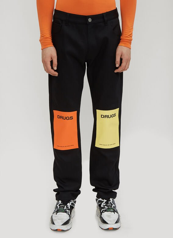 Raf Simons Drugs Patch Jeans