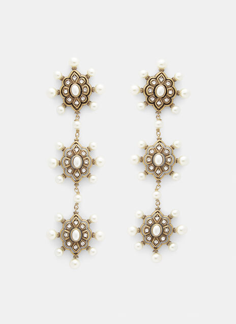 Gucci Pearl Embellished Drop Earrings