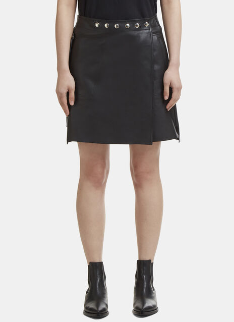 Acne Studios Shiryn Nappa Leather Skirt
