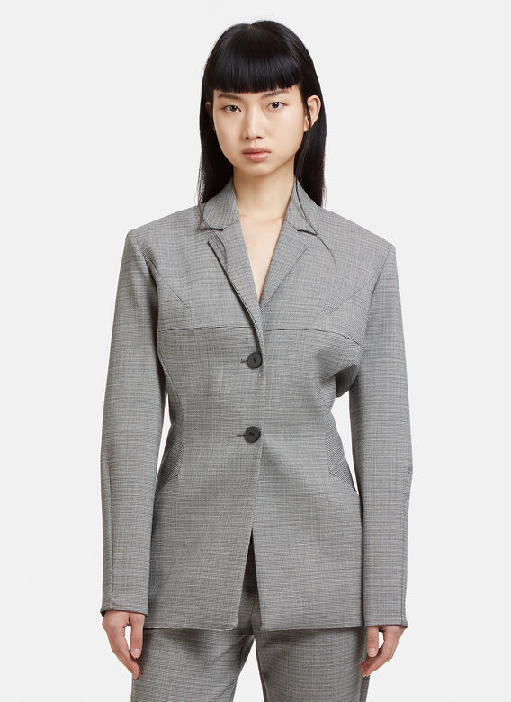 tailored-hounds-tooth-blazer-7-in-grey by capara