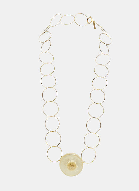 Flower Fossil Chain Necklace