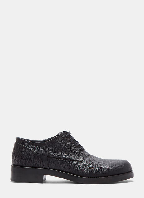 Speckled Leather Lace-Up Brogue Shoes