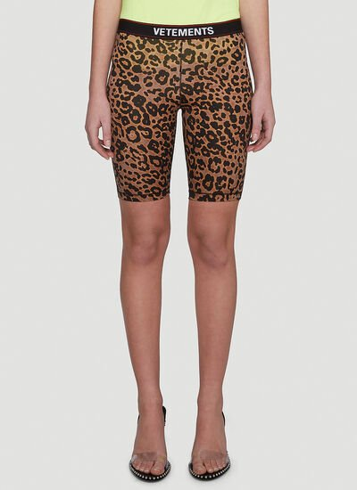 Vetements Leopard Cycling Shorts