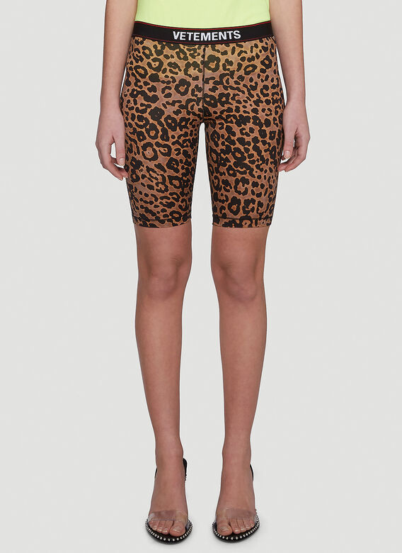 VETEMENTS Leopard Cycling Shorts 1