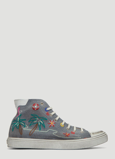 Saint laurent Embroidered Bedford Sneakers