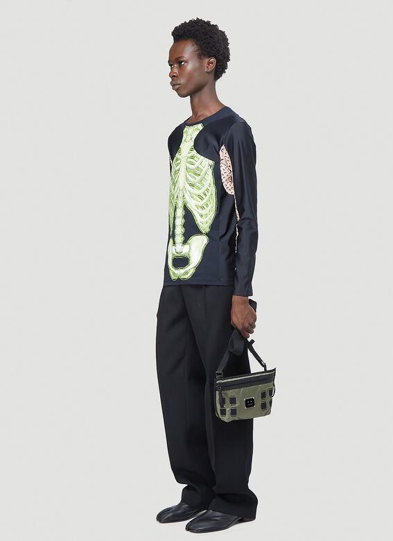 Marine Serre Skeleton Long-Sleeved T-Shirt 2