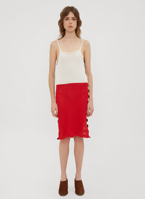 Eckhaus Latta Striped Knit Dress