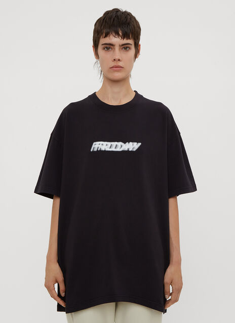 Vetements Blurred Friday Weekday T-Shirt