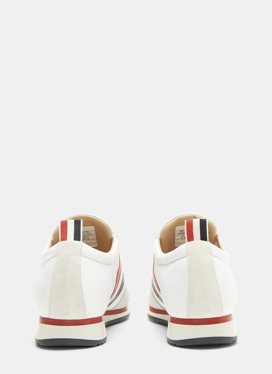 Thom Browne Suede Panelled Striped Web Running Sneakers D6gO4