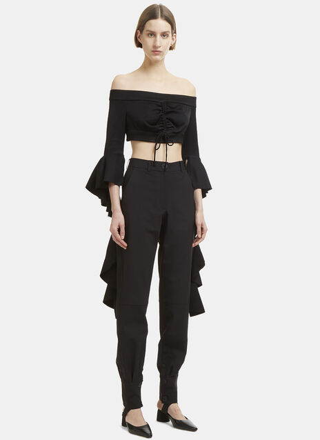 Ellery High Noon Frill Sleeve Top
