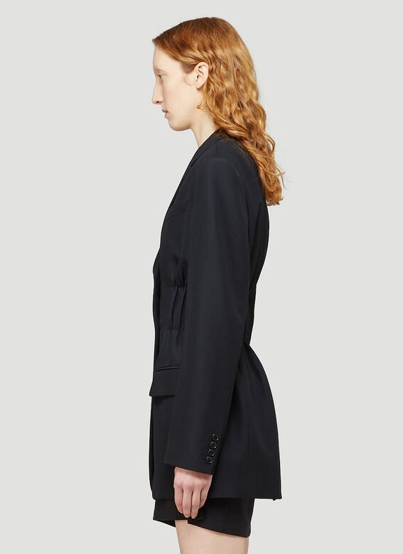 Alexander Wang FITTED SINGLE BREASTED BLAZER W/ CINCHED WAISTLINE 3