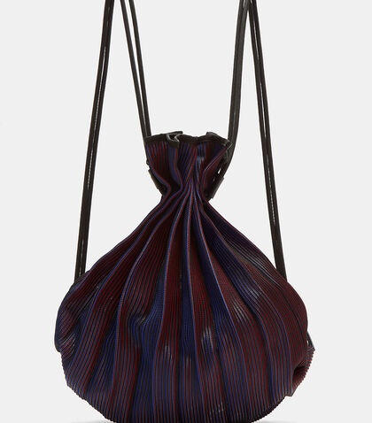 Wave Pleated Drawstring Backpack