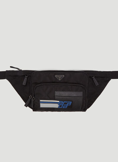 Prada Logo Plaque Quilted Belt Bag