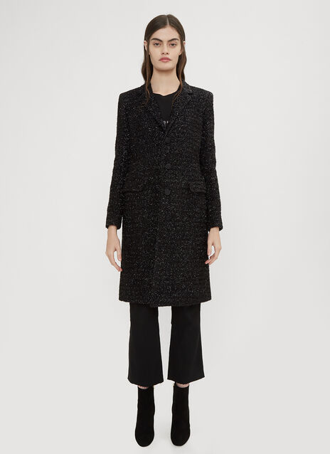 Saint Laurent Lurex Chesterfield Coat