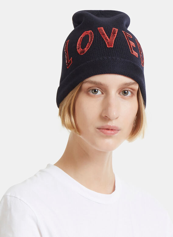 9e1d924e60791 Gucci Sequin Embroidered Loved Knit Hat