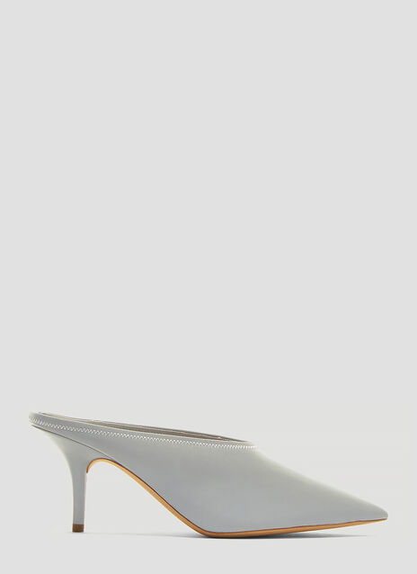 Yeezy Chrome Reflective Mule Pump 70mm Heel