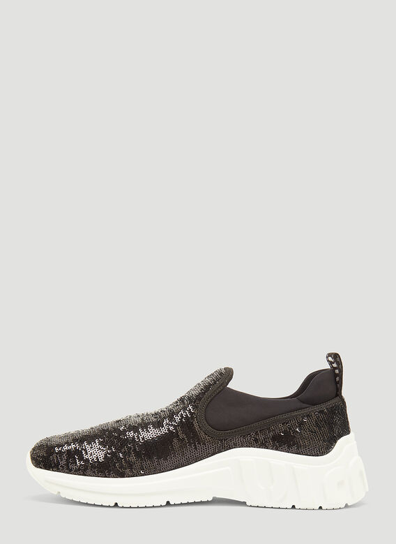 Miu Miu Sequin Slip-On Sneakers