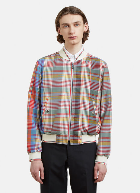 Thom Browne Checked Bomber Jacket