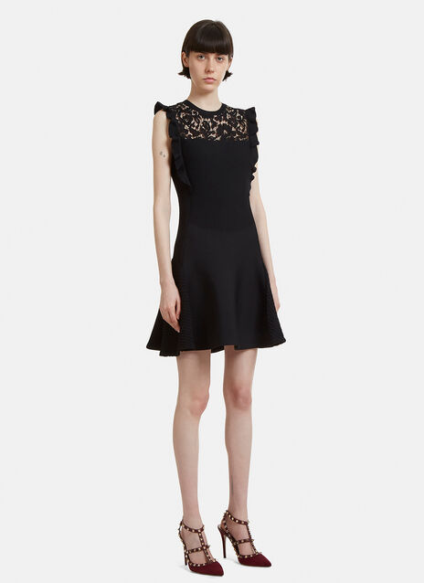 Valentino Lace Technical Knit Dress