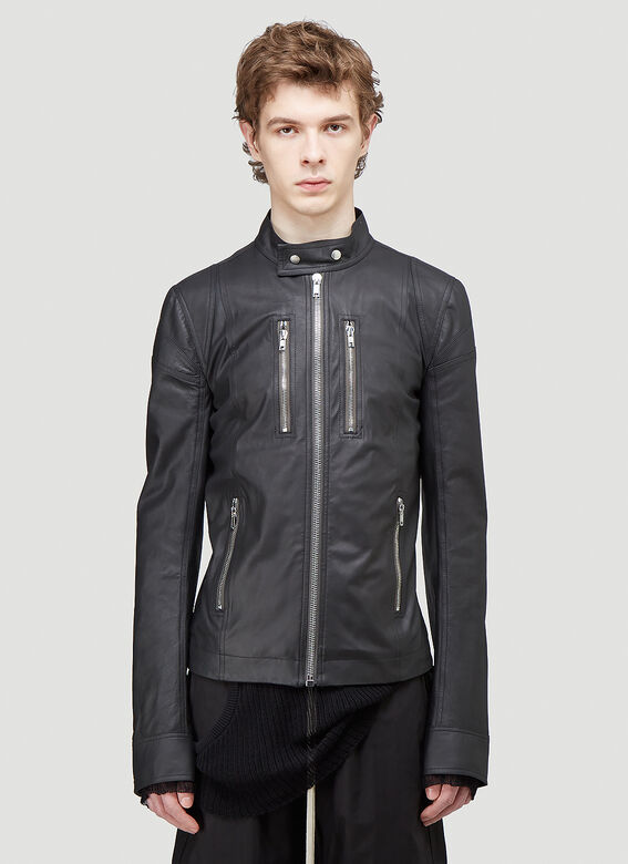 Rick Owens TIES LEATHER JACKET 1
