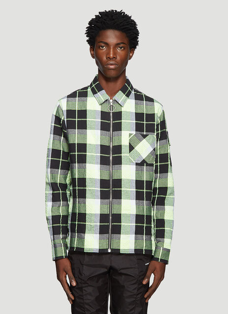Off-White Check Print Skull Shirt