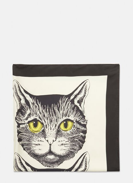 Gucci Mystic Cat Silk Scarf