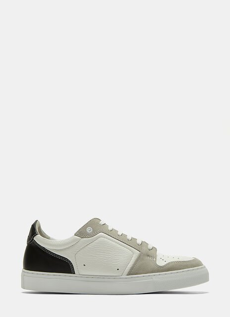 Ami Contrast Panelled Low-Top Sneakers