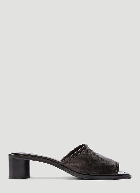Acne Studios Leather Heeled Mules in Black