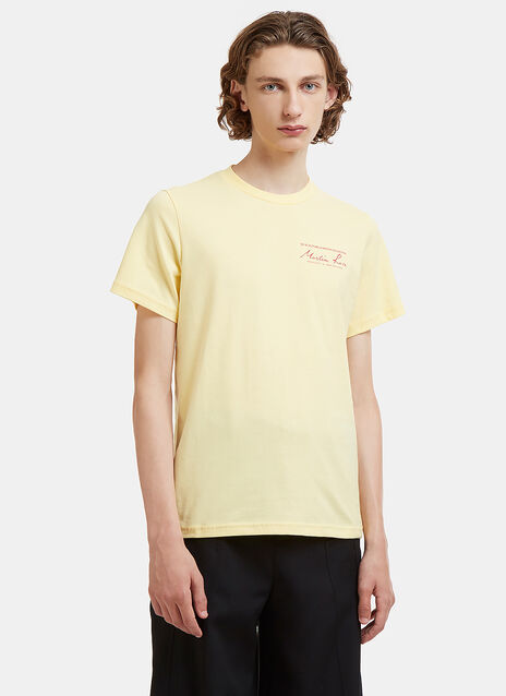 Martine Rose Logo Print Crew Neck T-Shirt