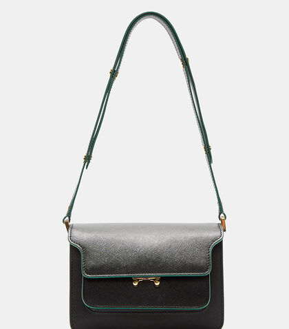 Mini Contrast-Trimmed Trunk Bag