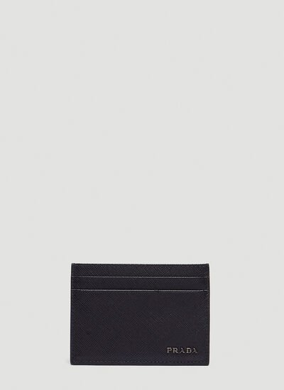 Prada Saffiano Bicolo Leather Card Holder