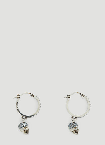 Alexander McQueen Skull Creole Mini Hoop Earrings