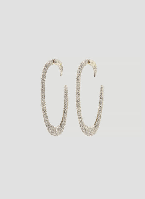 Saint Laurent Crystal Hoop Earrings