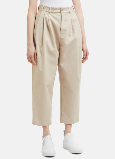 Hed Mayner Pleat Tapered Pants