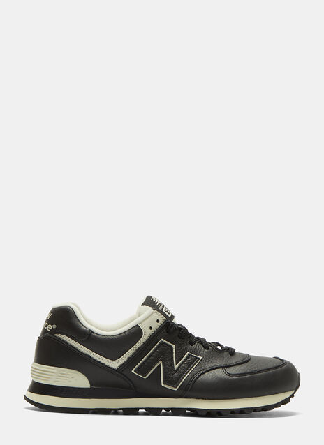 574 Grained Leather Sneakers