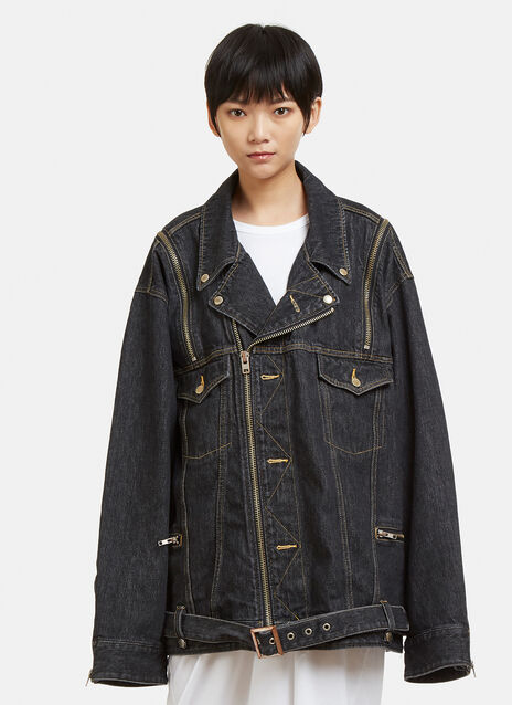 Facetasm Zip Shoulder Denim Jacket