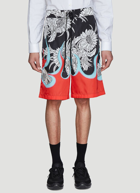 Prada Flames Board Shorts
