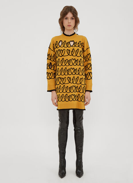 Fendi Heart Cut-Out Sweater