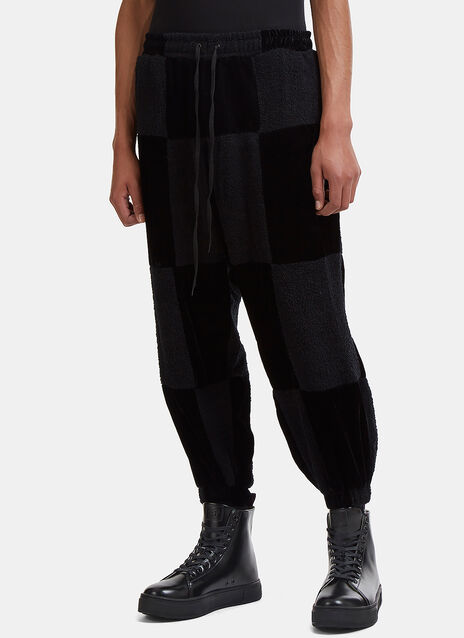 Garbage TV Check Me Out Contrast Patchwork Pants