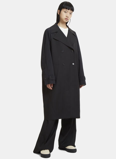 Yang Li Contrast Sleeve Trench Coat