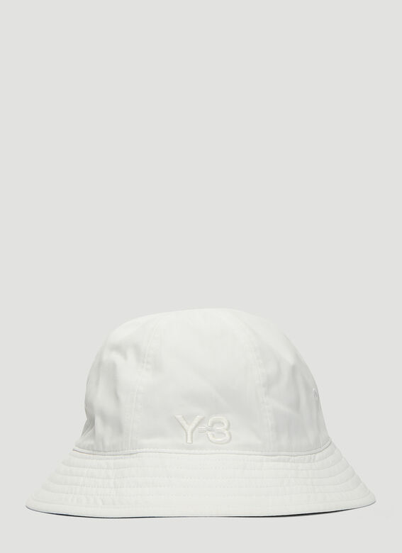 20f644e80f9 Y-3 Embroidered Logo Bucket Hat in White