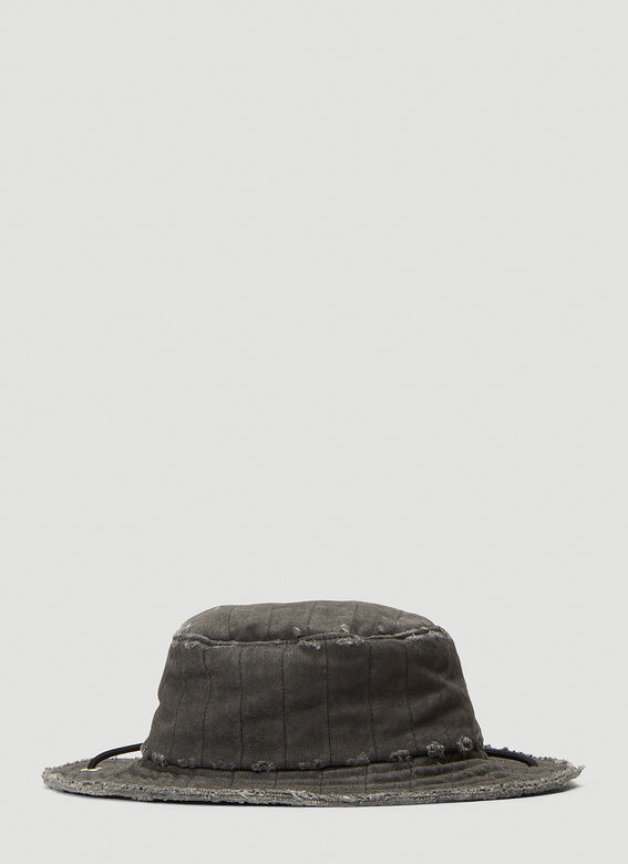 A-COLD-WALL* X Diesel Red Tag Denim Overlay Bucket Hat 4