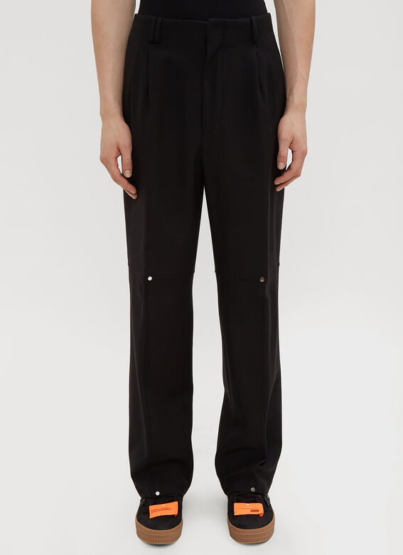 f882755fe2d0 Off-White Double Pleated Pants in Black