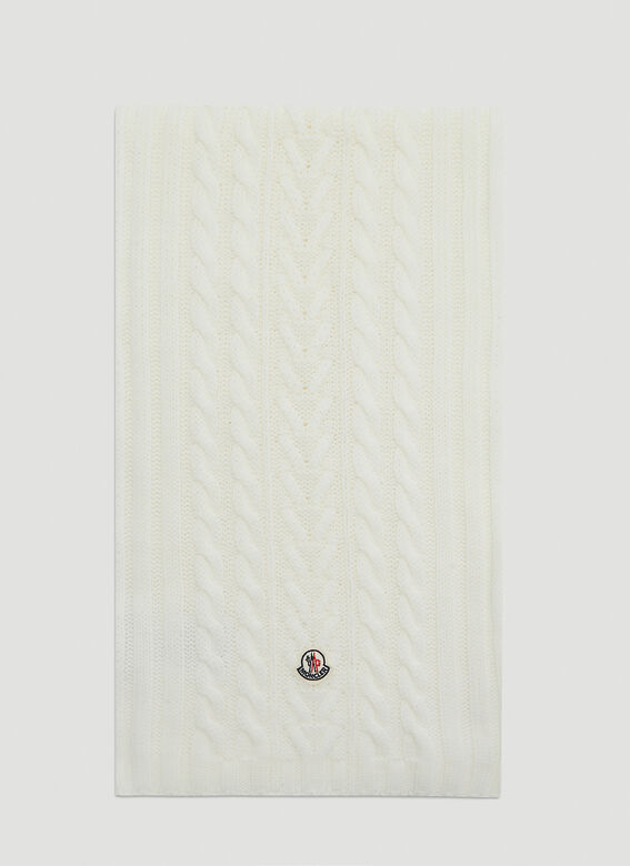 Moncler Cable-Knit Scarf 1