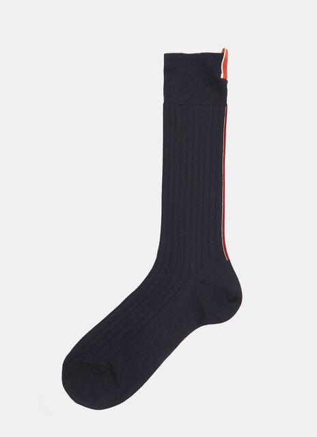 Thom Browne Ribbed Mid-Calf Socks