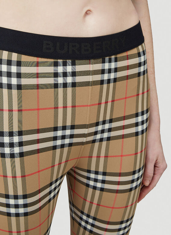 Burberry Logo Detail Vintage Check Leggings 5
