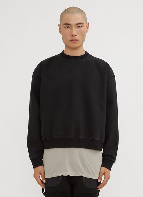 Unravel Project Oversized Stretch Terry Sweatshirt